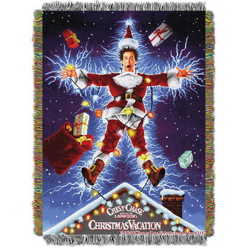 Christmas Vacation (Shocking Chevy) Woven Tapestry Throw (48inx60in)