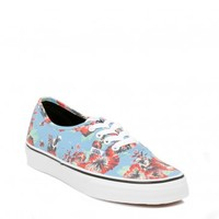 VANS WOMENS STAR WARS BLUE AUTHENTIC YODA ALOHA TRAINERS