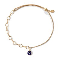 Evil Eye Bar Ring Pull Chain Bracelet