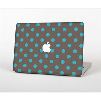 The Gray & Blue Polka Dot Skin Set for the Apple MacBook Air 11""