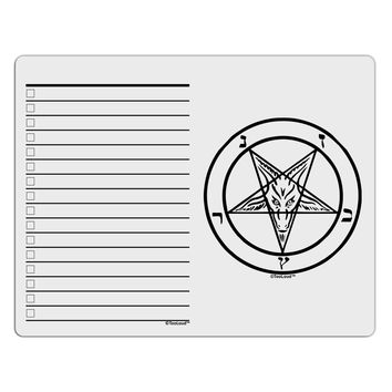 Sigil of Baphomet To Do Shopping List Dry Erase Board by TooLoud