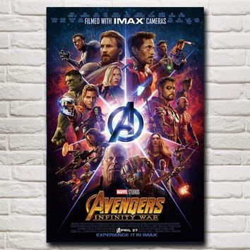 NUOMEGE New Avengers Infinity War Silk Poster Art  Print Painting 2018 Hot Movie Wall Art Pictures For Living Room Decoration