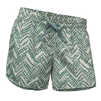 Women's Class V Shorts in Bristol Blue Chevron Print by The North Face