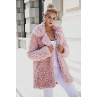 Turndown Teddy Coat