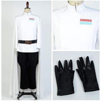 Rogue One: A Star Wars Story American Epic Space Opera Film Top Director Krennic Officer Uniform Cosplay Costume For Adult Men