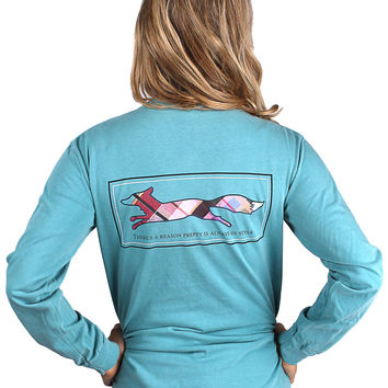 Longshanks Long Sleeve Tee Shirt in Seafoam Green by Country Club Prep