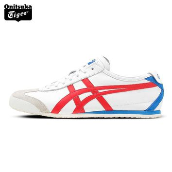 qiyif Onitsuka Tiger MEXICO66N Outdoor Authentic Men Shoes Classical Breathable Lightweight Unisex Sneakers D4J2L