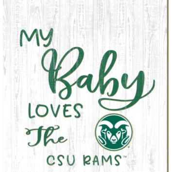 Colorado State Rams | My Baby Loves | Sign | Wood | Rope Hanger | NCAA