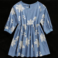 Floral Embroidery Doll Dress