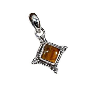 Sterling Silver Tiger Eye Necklace