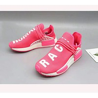 """Adidas"" NMD men and women fashion shoes sneakers Pink"