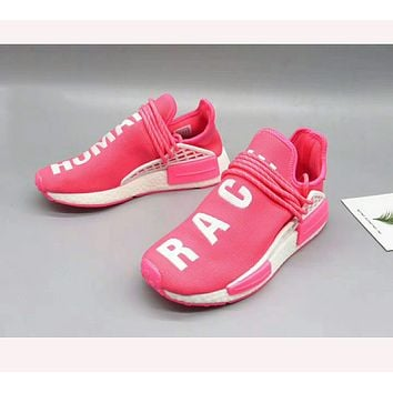 """""""Adidas"""" NMD men and women fashion shoes sneakers Pink"""