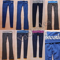 NWT 2012 Abercrombie A&F by Hollister Womens Yoga Legging Gym Sport Lounge Pants