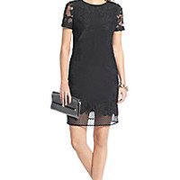 DVF Leighton Lace Detail Dress