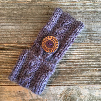 Purple Coffee Cozy, Knitted Coffee Cozy, Coffee Holder, Coffee Sleeve, Coffee Lover Gift, Coffee Cup Holder, Coffee Cozies