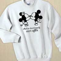 Mickey Minnie Kisses Quotes Unisex Sweater