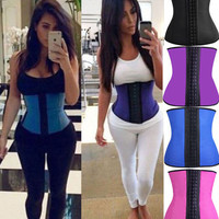 2015 Fashion Latex Waist Cincher Steel Boned Waist Trainer Corset Underwear Slimming Shaper Bodysuit Trainer Exercise Corset