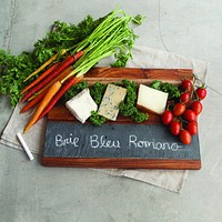 Rustic Farmhouse Wood and Slate Serving Board