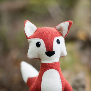 Fox plush toy, stuffed fox, plush toy fox, red fox plushie, red fox, woodland animal, fox nursery decor, woodland fox toy, Flicker the Fox