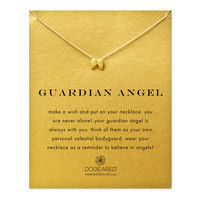 Guardian Angel, Angel Wings Necklace, Gold Dipped | Dogeared