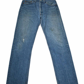 Vintage Levis 501 Jeans Made in USA Mens Size W35 x L36