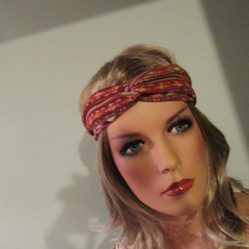 Twist Headband, Turban Headband, Tribal Headband,  Womens Hair Accessory Bohemian Headband