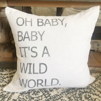 """Wild World 20"""" Pillow Cover"""