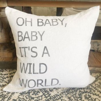 "Wild World 20"" Pillow Cover"
