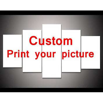 5 Pcs Creative Art HD print wall art painting for living room bedroom home decor custom made print your picture on canvas PT1000