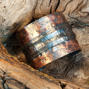 2 Inch Fold Formed Copper Bracelet by acklinartworks on Etsy