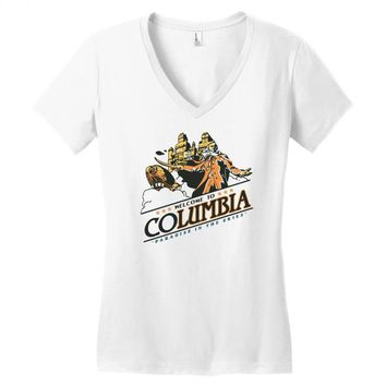 columbia Women's V-Neck T-Shirt