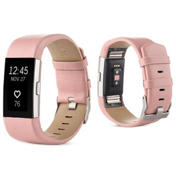 Sports Watchbands Genuine Leather Straps for Watches For Fitbit High Quality