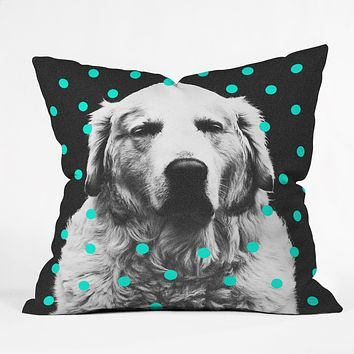 Elisabeth Fredriksson Sleepy Dog Throw Pillow