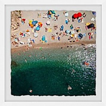Marmont Hill Packed Beach Framed Wall Art