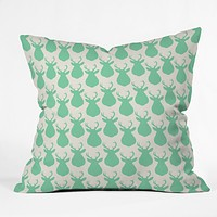 Allyson Johnson Minty Deer Throw Pillow