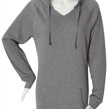 Comfy Solid Pullover Hooded Long Tunic Sweater Top