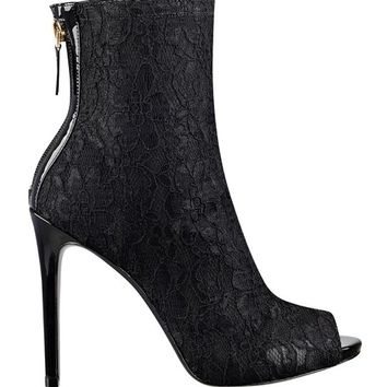 Arya Lace Mid-Calf Booties | GUESS.com