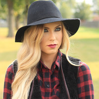 Black Structured Hat