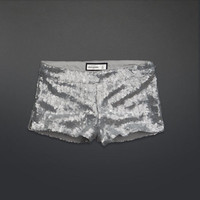 silver sequin shorts