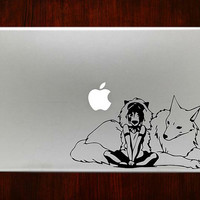 "Princess mononoke m268 Design Decal Sticker Vinyl For Macbook Pro Air Retina 13"" 15"" 17"" Inch Laptop Cover"