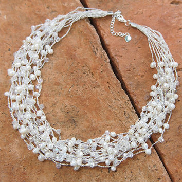 Freshwater pearl Multi strands Necklace