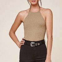Me To We Alexa Cropped Halter Tank Top at PacSun.com