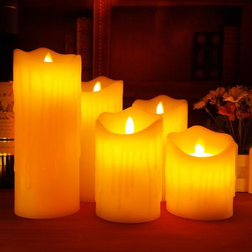 Ivory Flickering LED Candles with Remote control