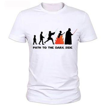 Star Wars Force Episode 1 2 3 4 5  Funny Fashion T-shirt Evolution Series T Shirt Novelty Tshirt Men Women Geek Tee Can be customized AT_72_6