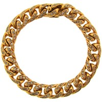 1970s Bulgari Diamond Yellow Gold Link Bracelet Bvlgari