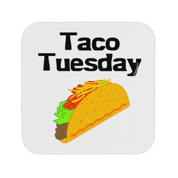 Taco Tuesday Design Coaster by TooLoud