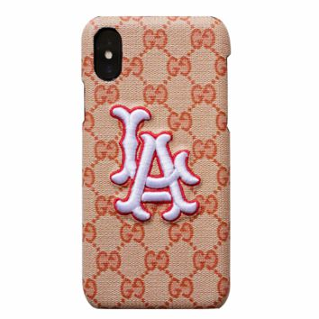 GUCCI x NY co-branded embroidery letter female iphonex phone case
