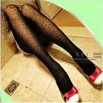 Fcare surpied sexy meia mesh stockings leopard print pantyhose girls leopard print pantyhose