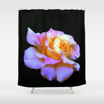 Pink And Gold Rose Shower Curtain by Minx267