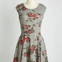 Mid-length Sleeveless A-line Rest Stop and Smell the Roses Dress
